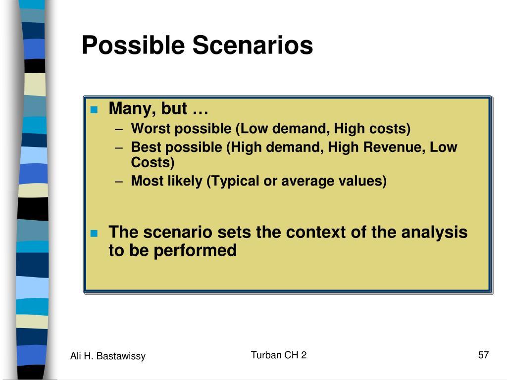 Possible Scenarios