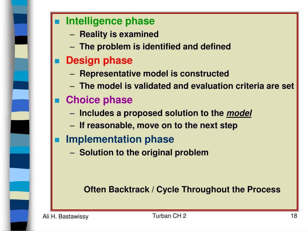 Intelligence phase