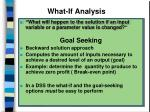 what if analysis