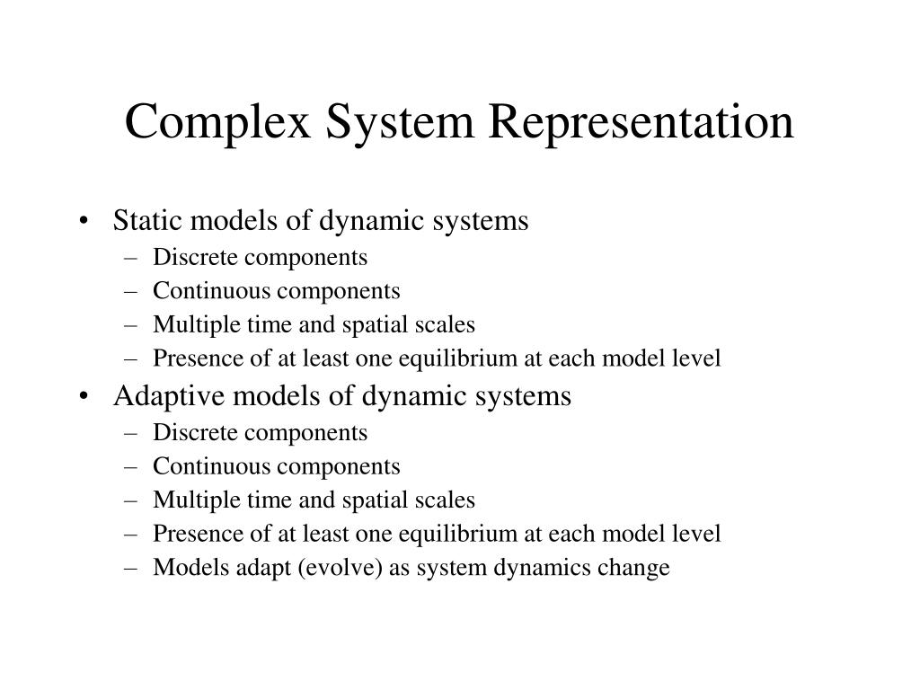 Complex System Representation