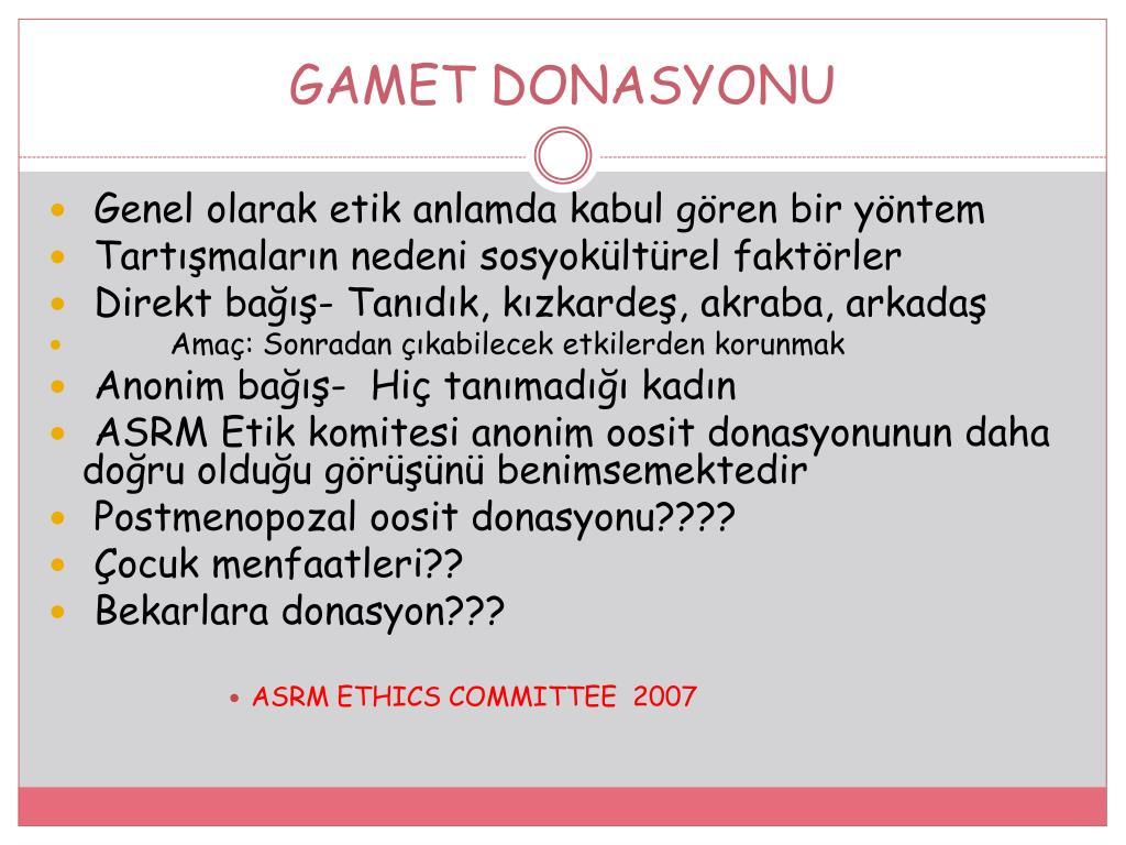 GAMET DONASYONU