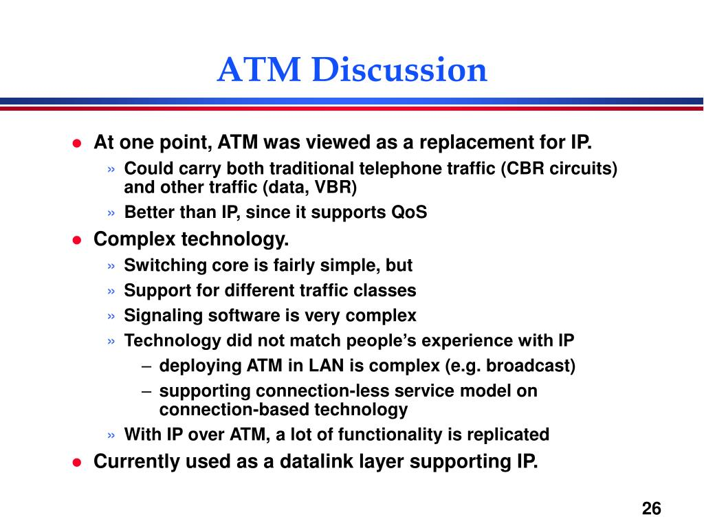 ATM Discussion