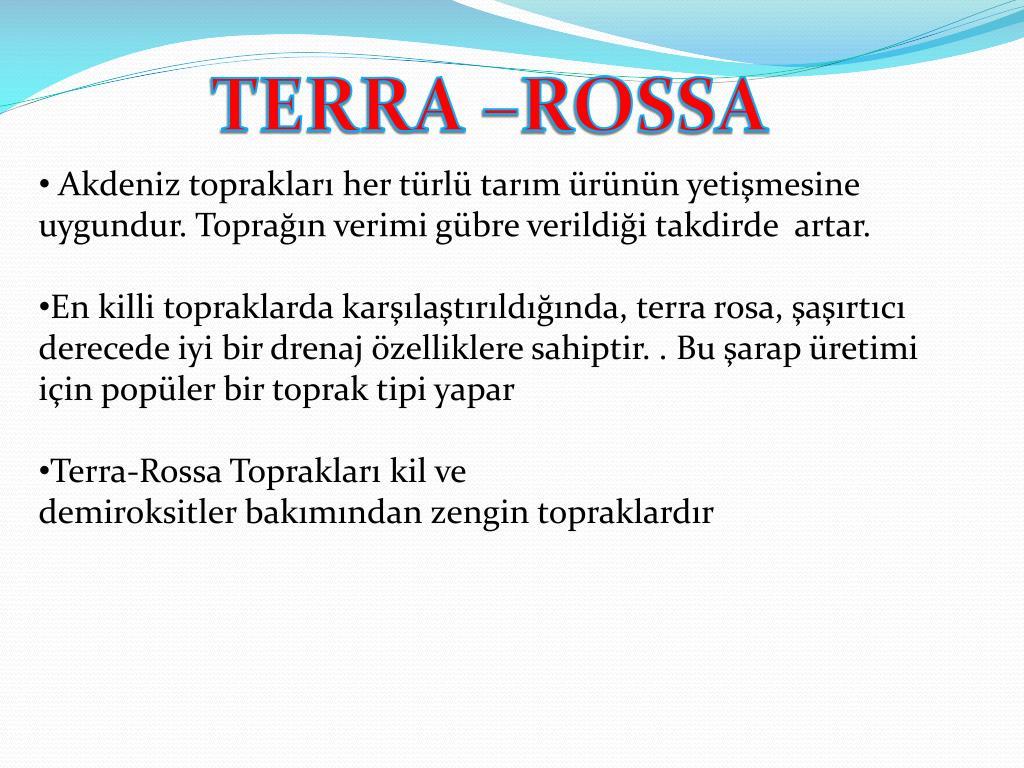 TERRA –ROSSA
