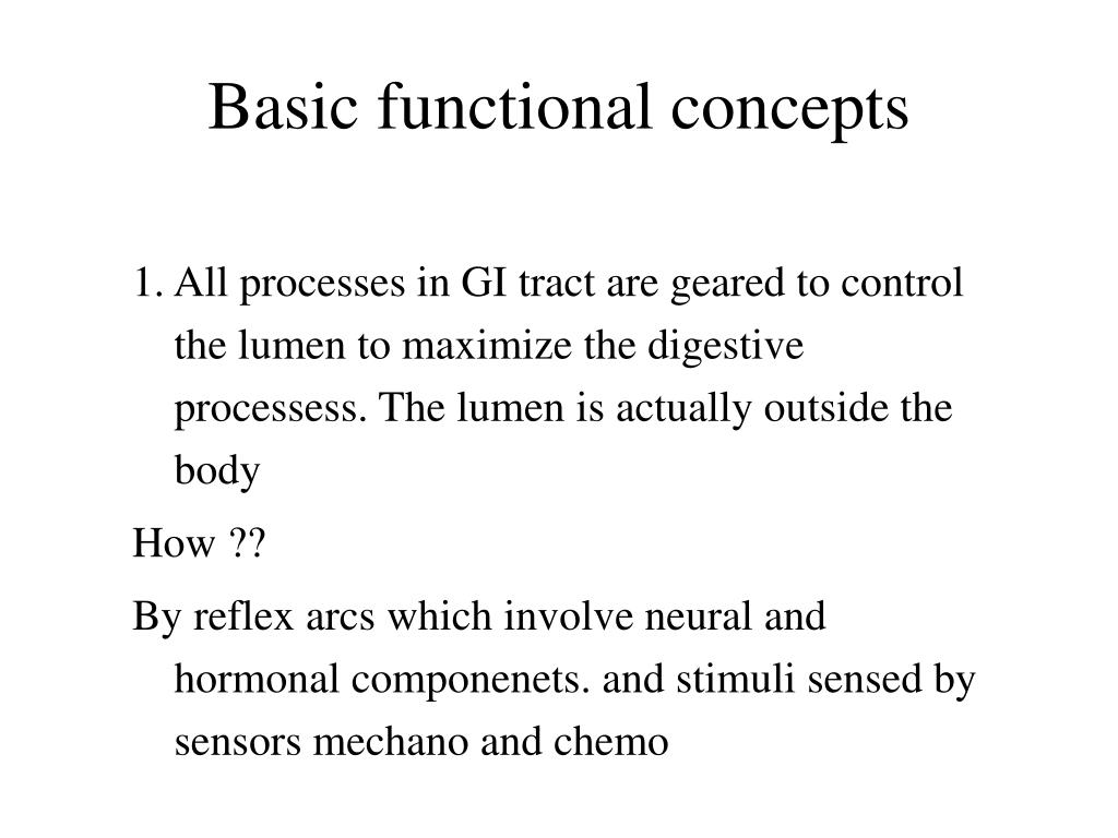 Basic functional concepts