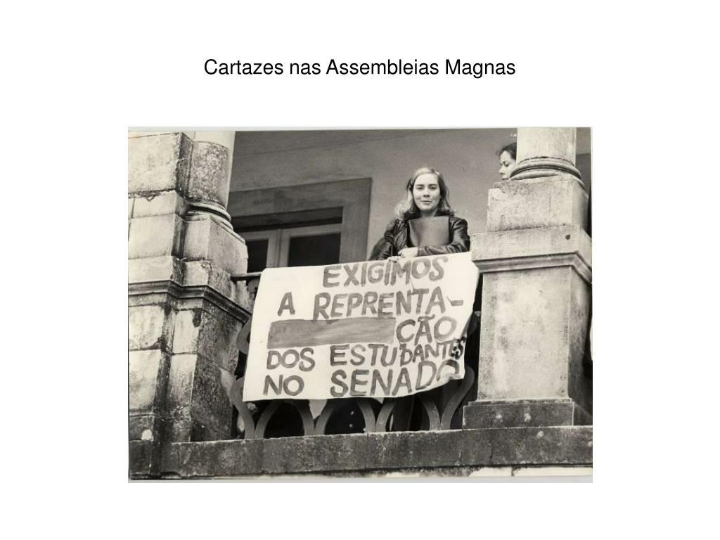 Cartazes nas Assembleias Magnas