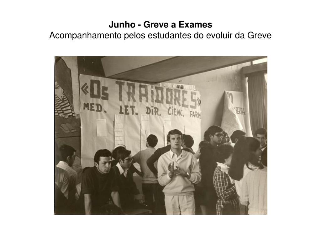 Junho - Greve a Exames