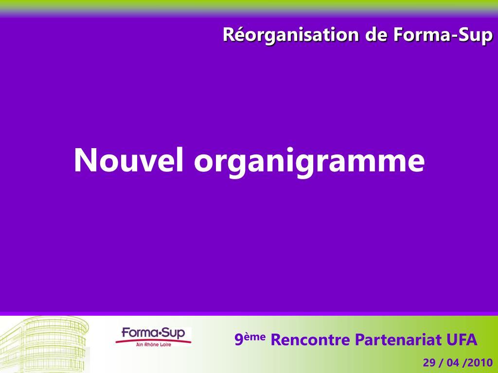 Réorganisation de Forma-Sup