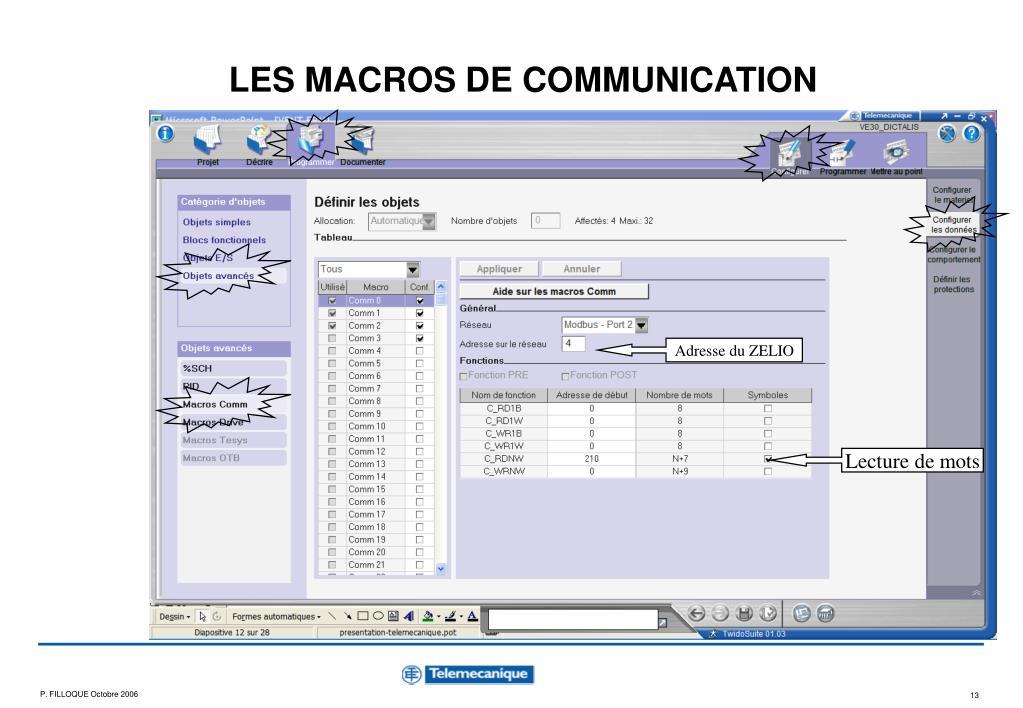 LES MACROS DE COMMUNICATION