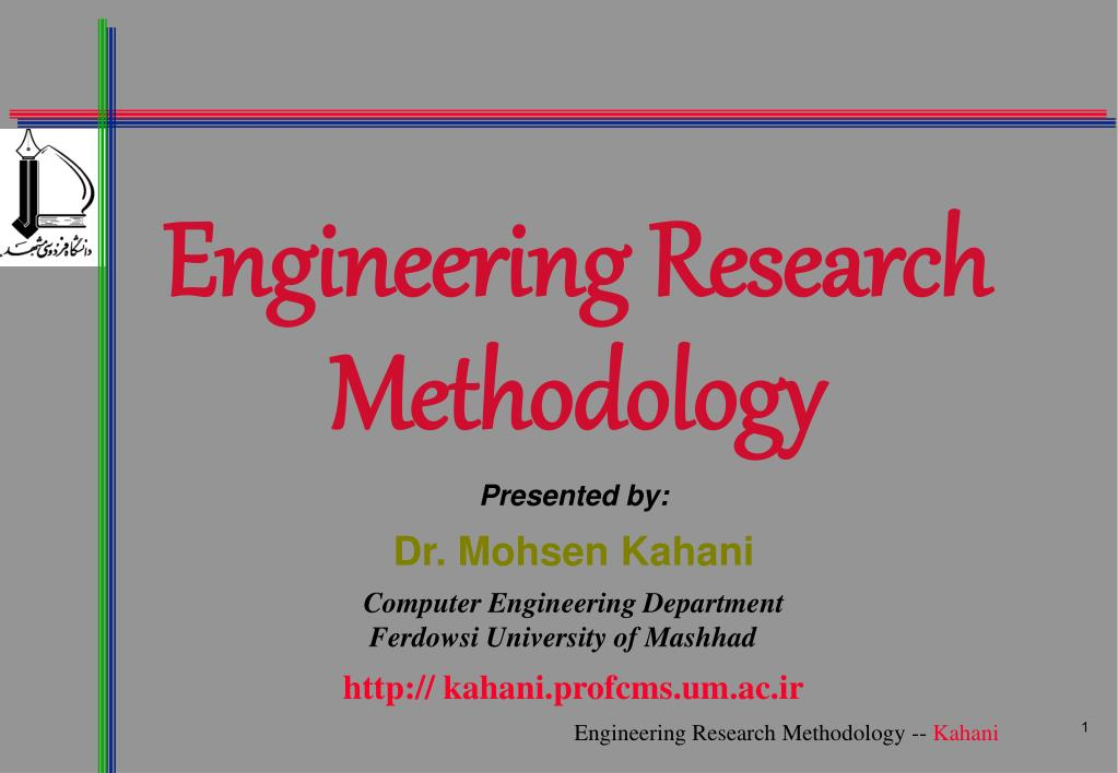 research methodology for engineering thesis