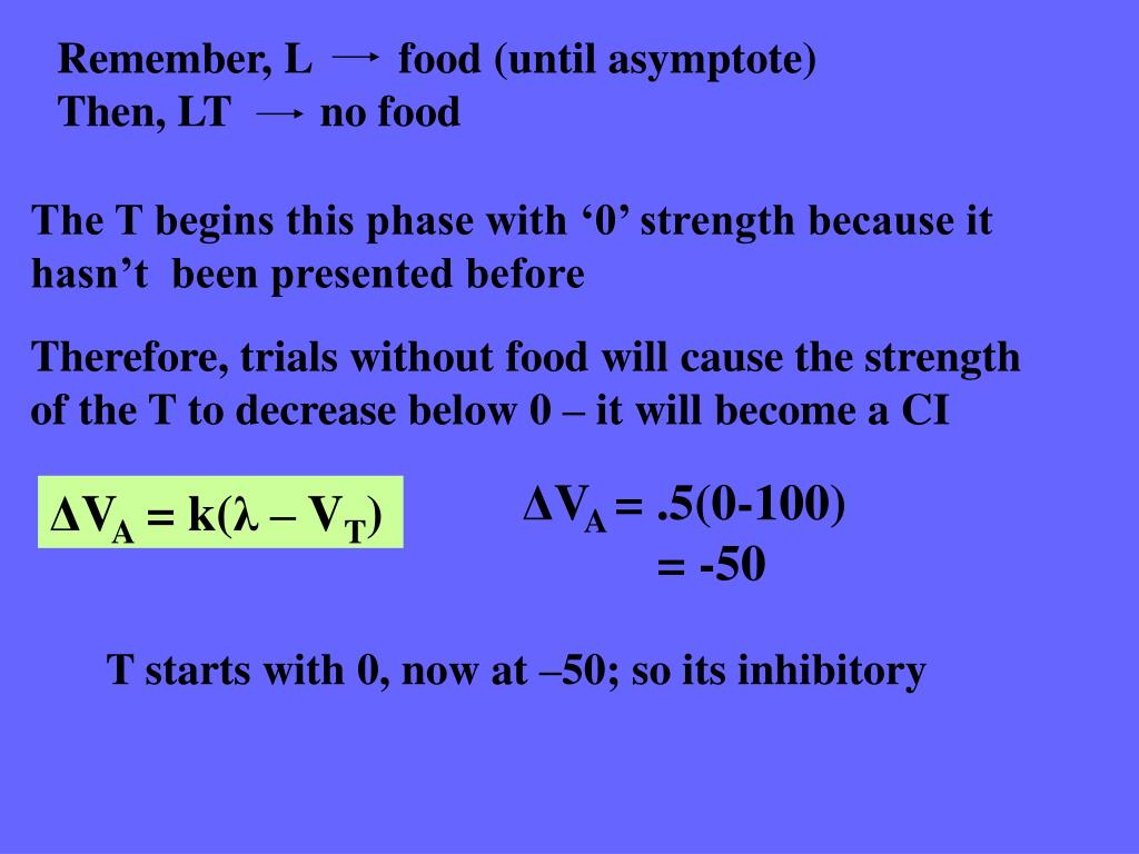 Remember, Lfood (until asymptote)