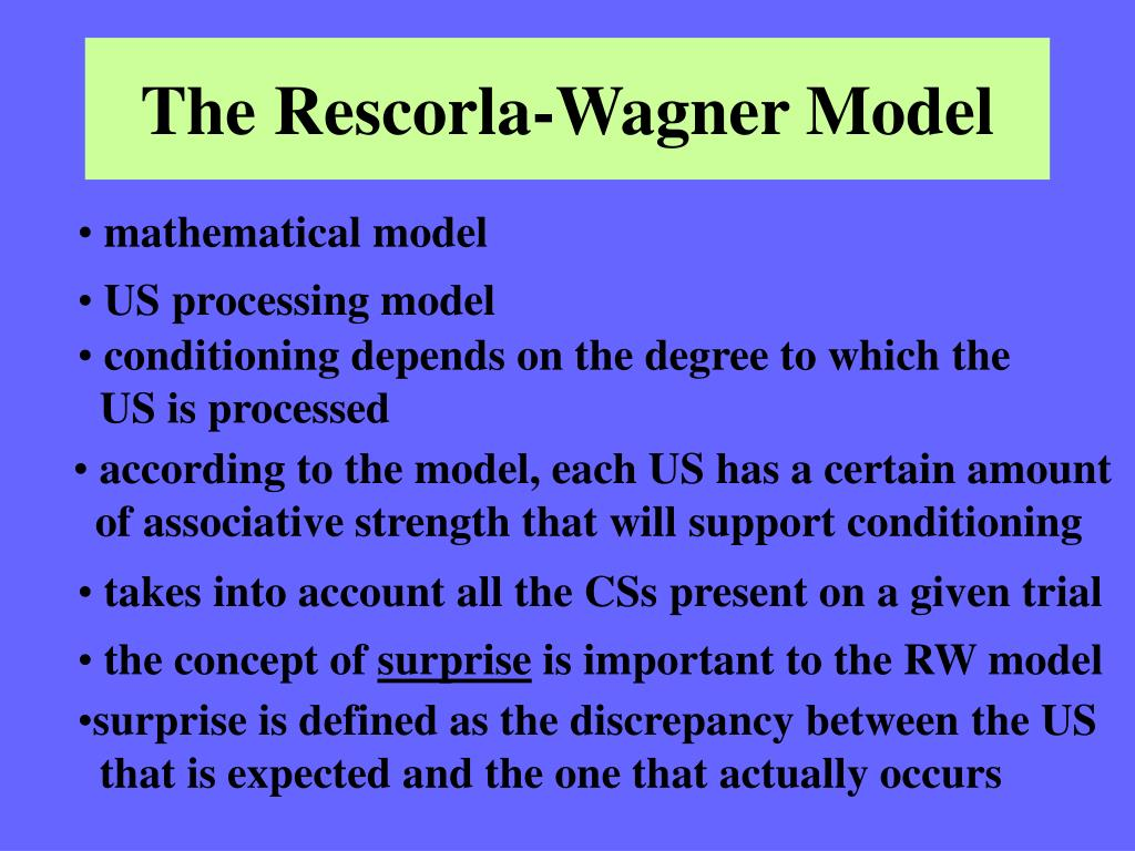 The Rescorla-Wagner Model