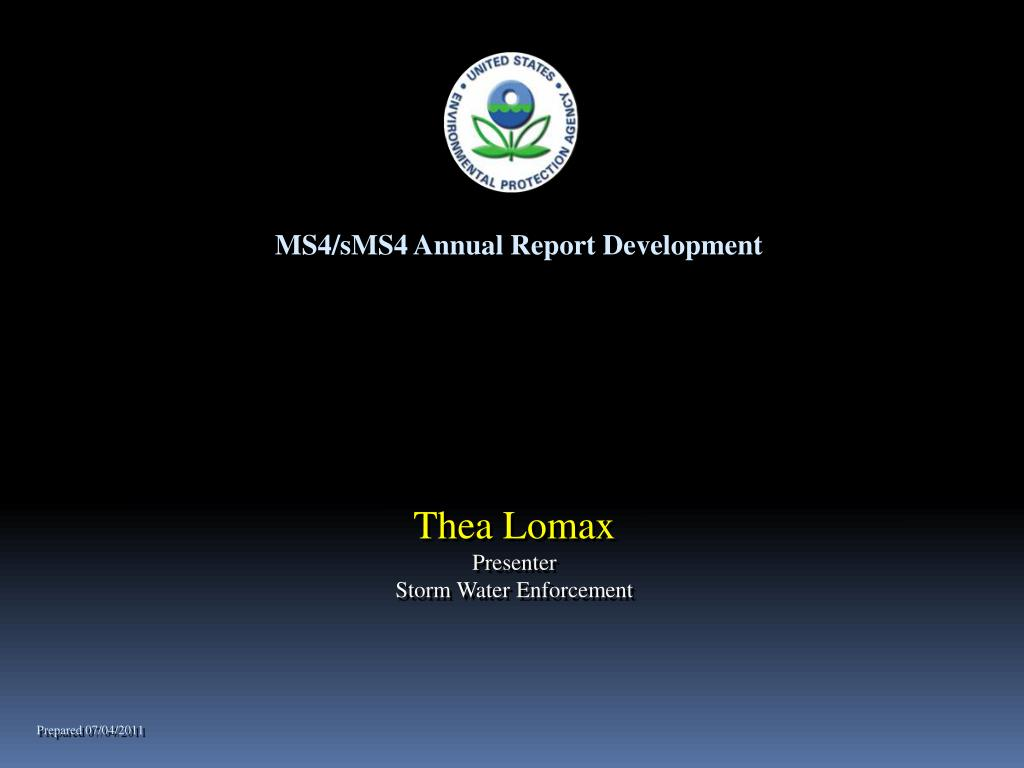 MS4/sMS4 Annual