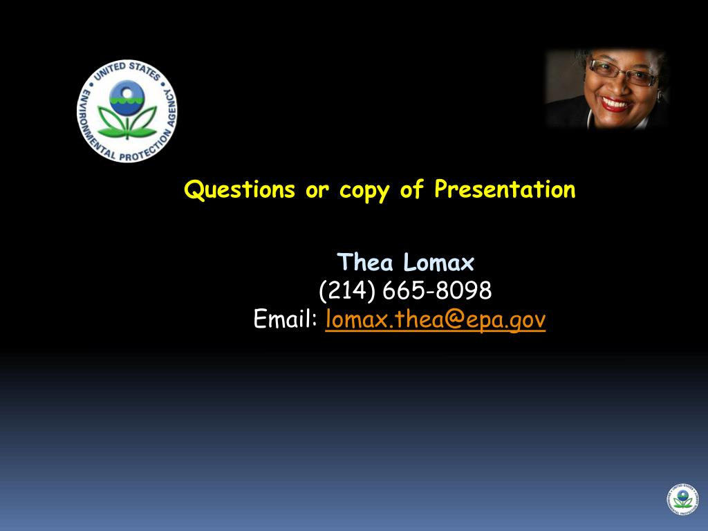 Questions or copy of Presentation
