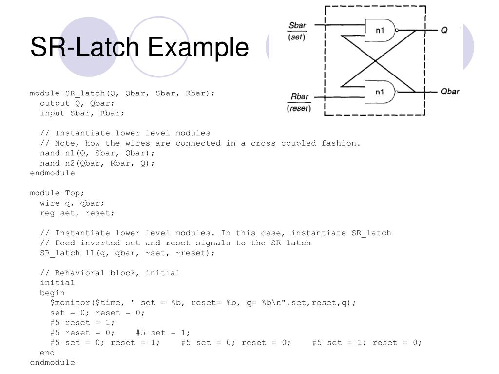 SR-Latch Example