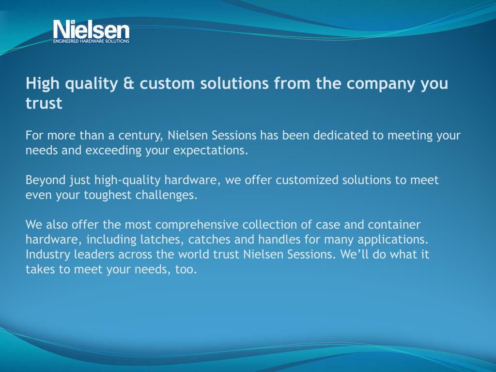 High quality & custom solutions from the company you trust