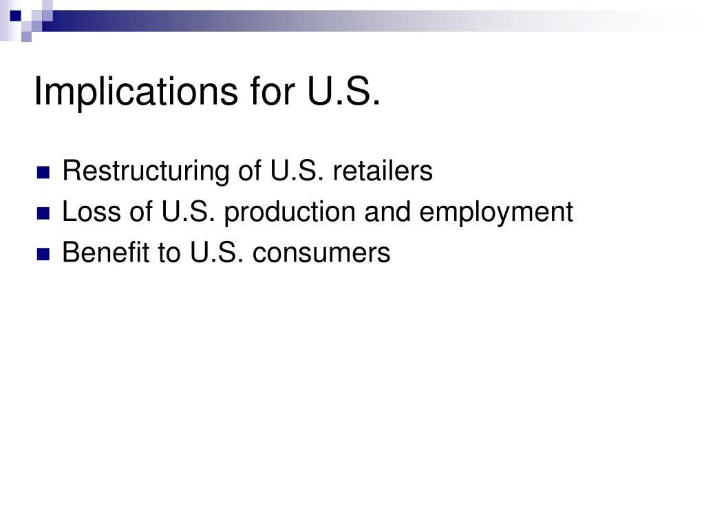 Implications for U.S.