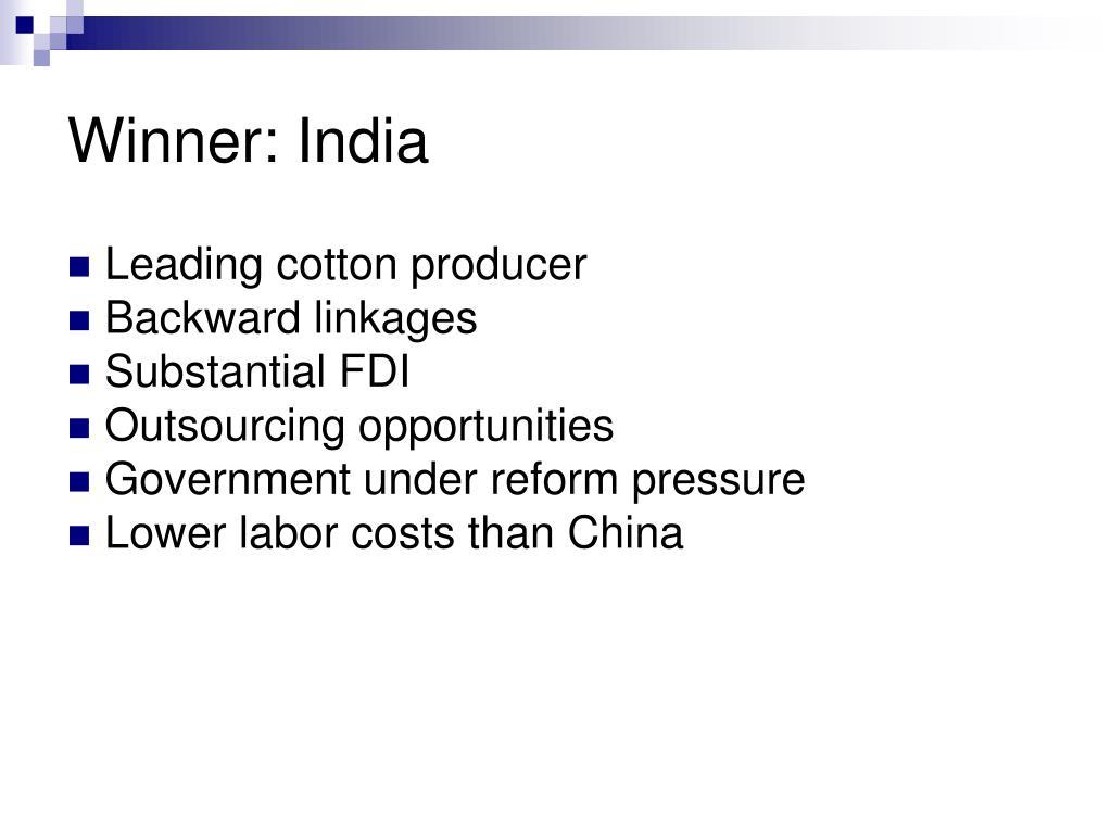 Winner: India