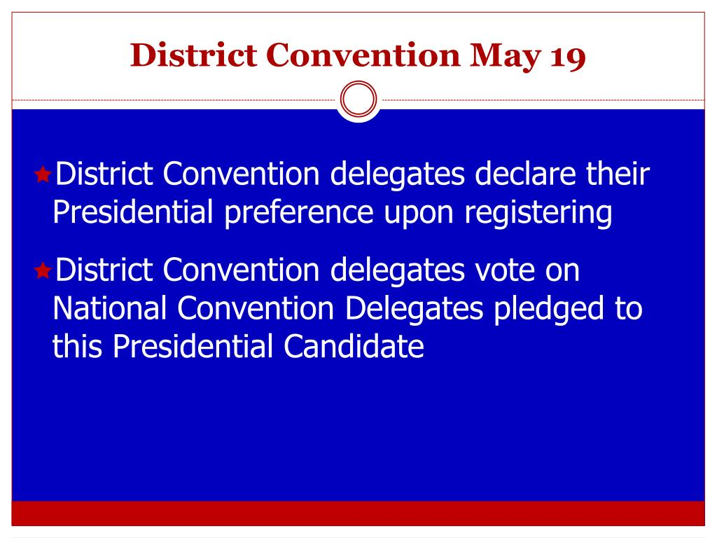 District Convention May 19