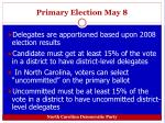 primary election may 8