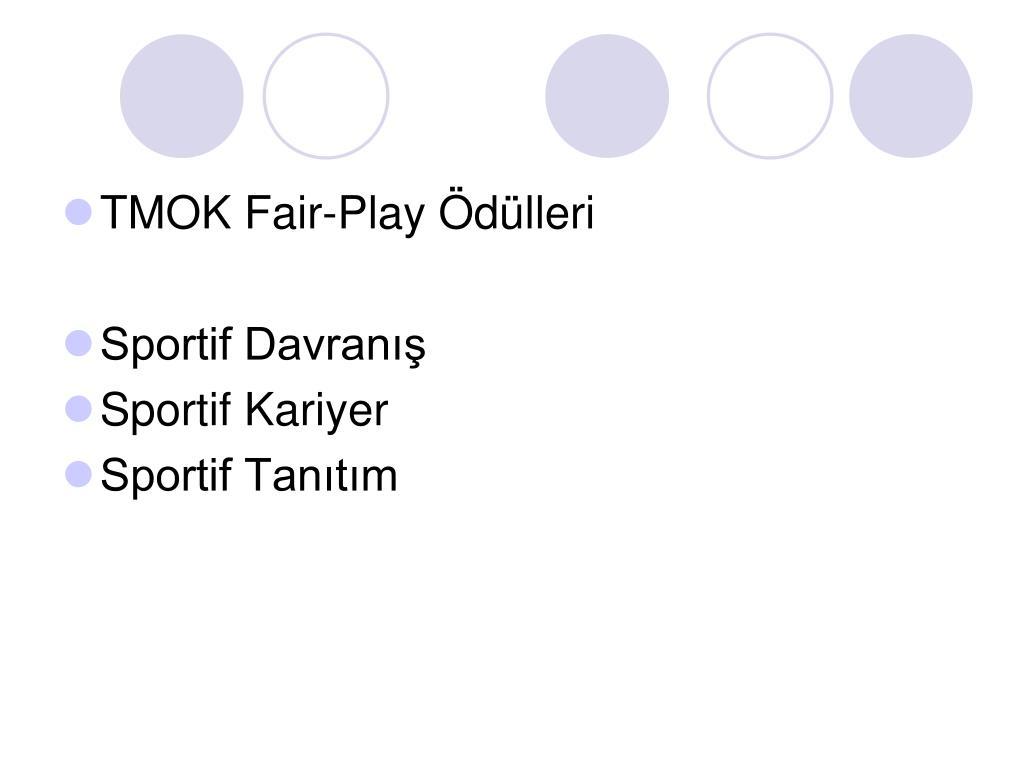 TMOK Fair-Play Ödülleri