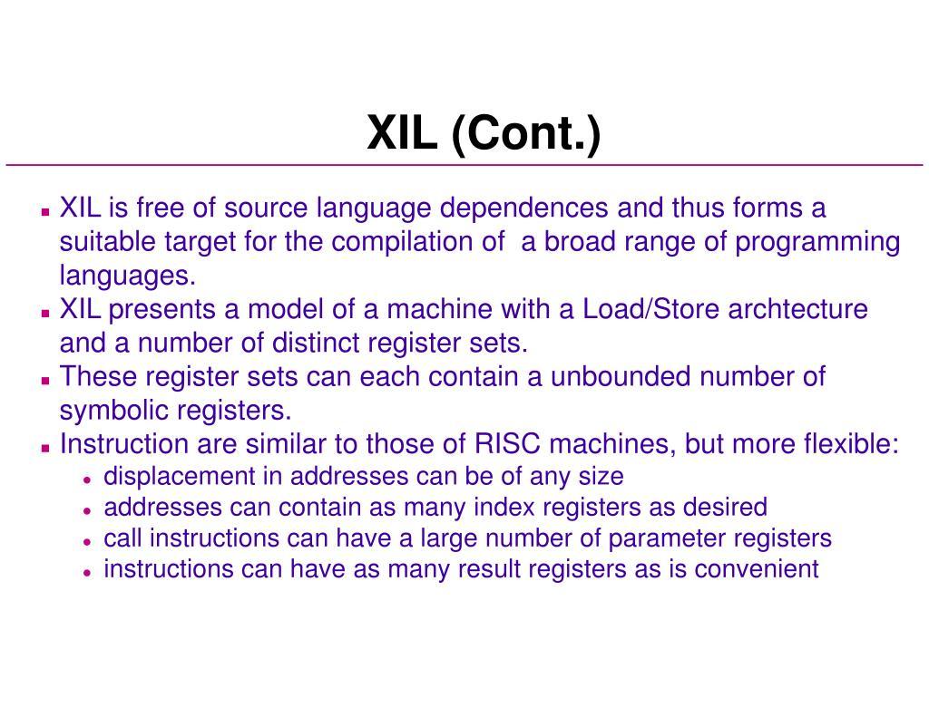 XIL (Cont.)