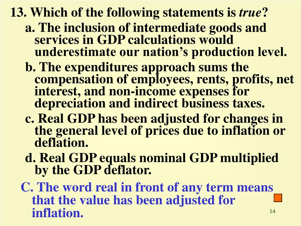 13. Which of the following statements is