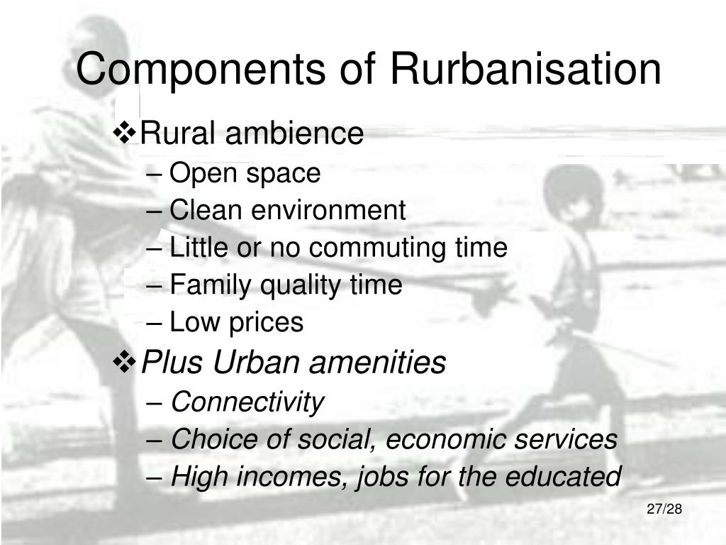 Components of Rurbanisation