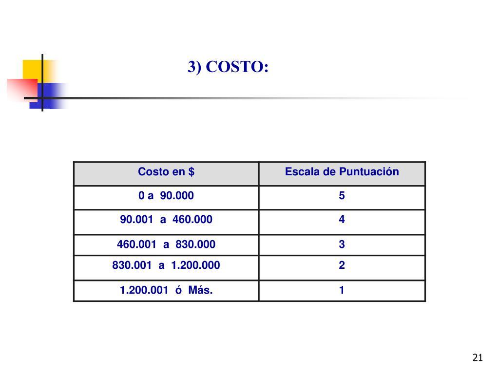 3) COSTO: