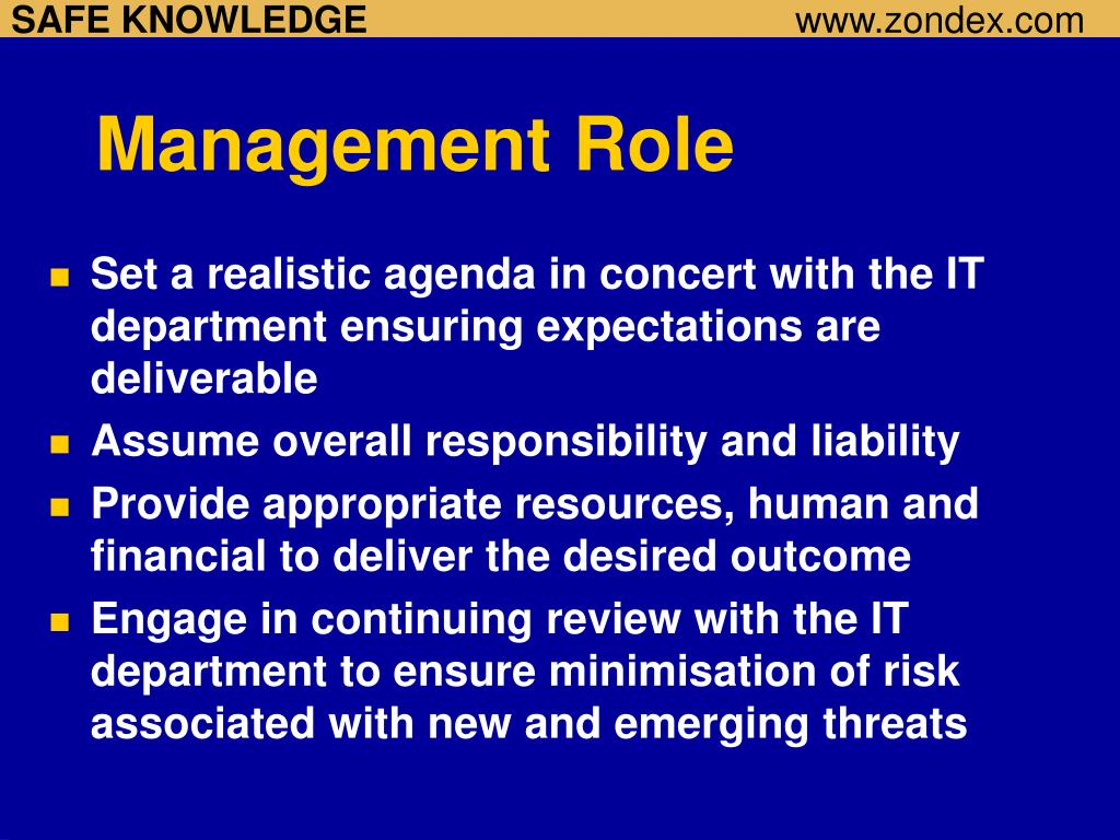 Management Role