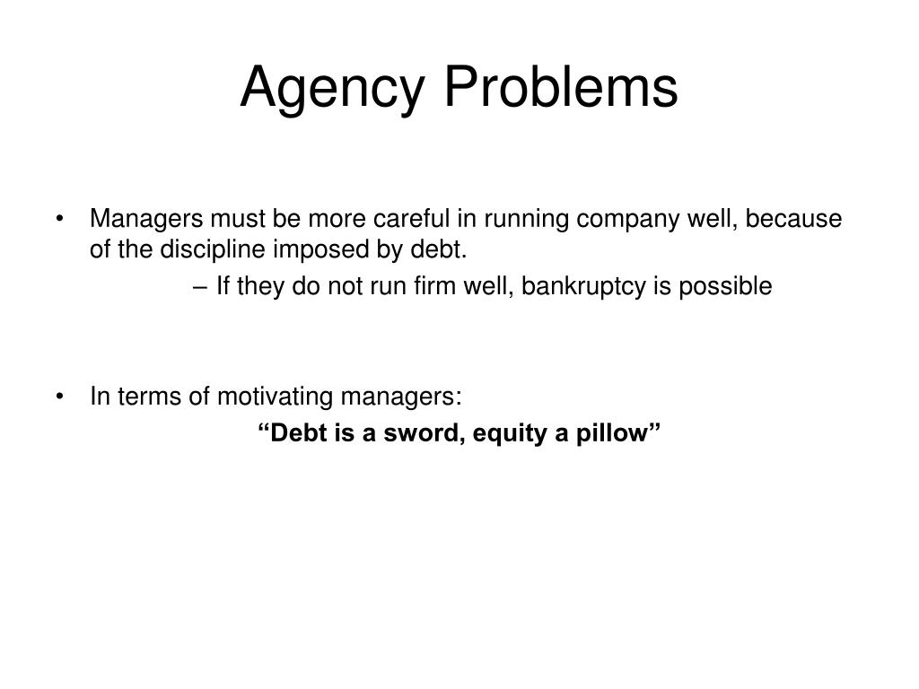 Agency Problems
