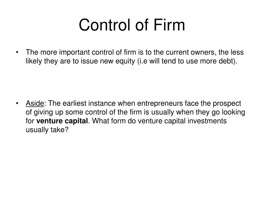 Control of Firm