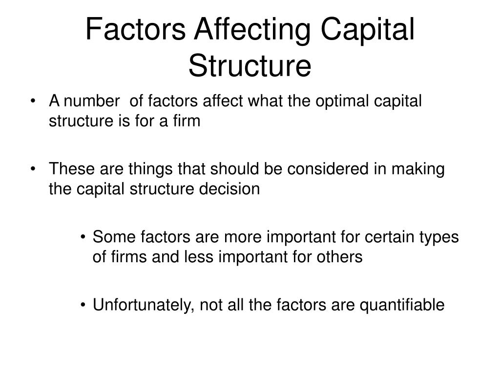 Factors Affecting Capital Structure