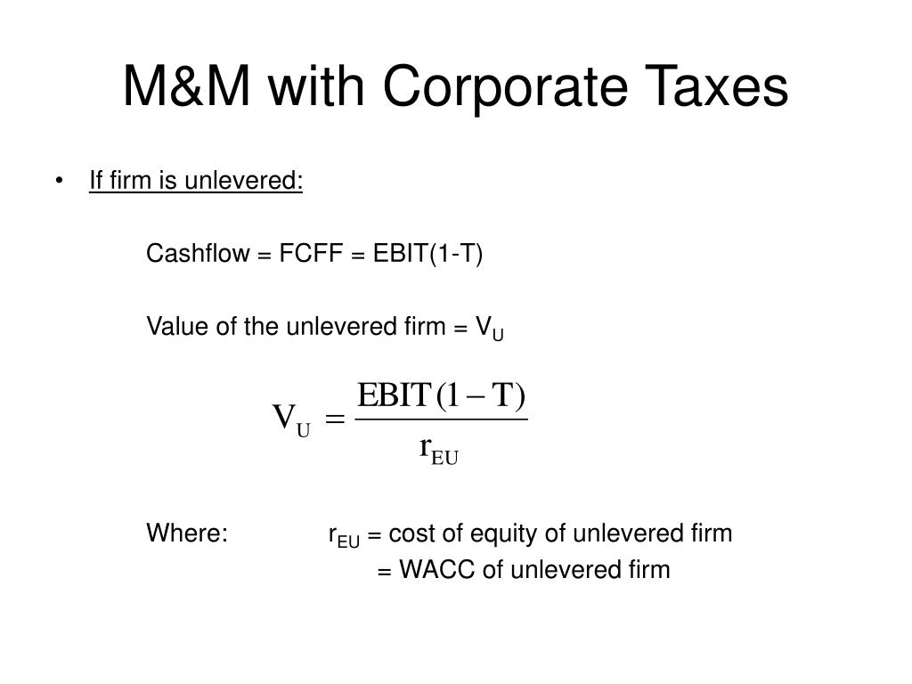 M&M with Corporate Taxes