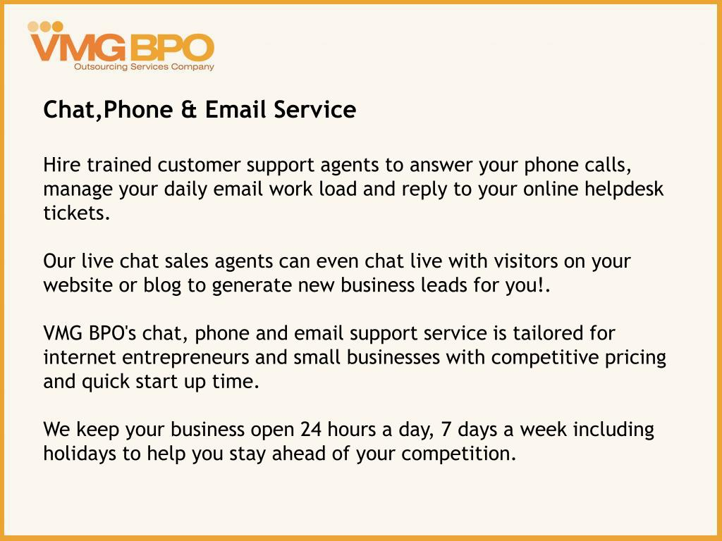 Chat,Phone & Email Service