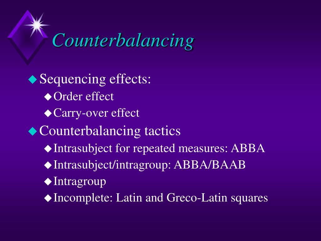 Counterbalancing