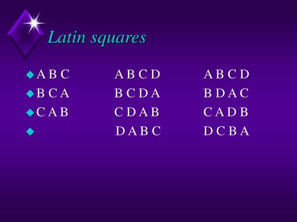 Latin squares