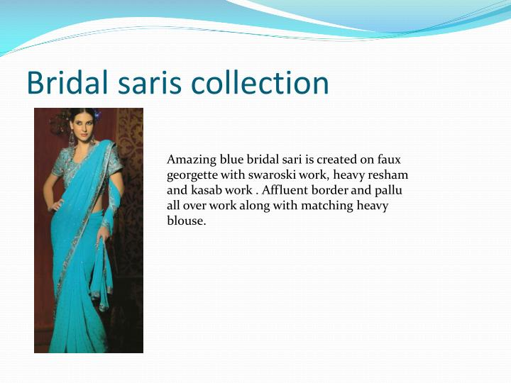 Bridal saris collection1