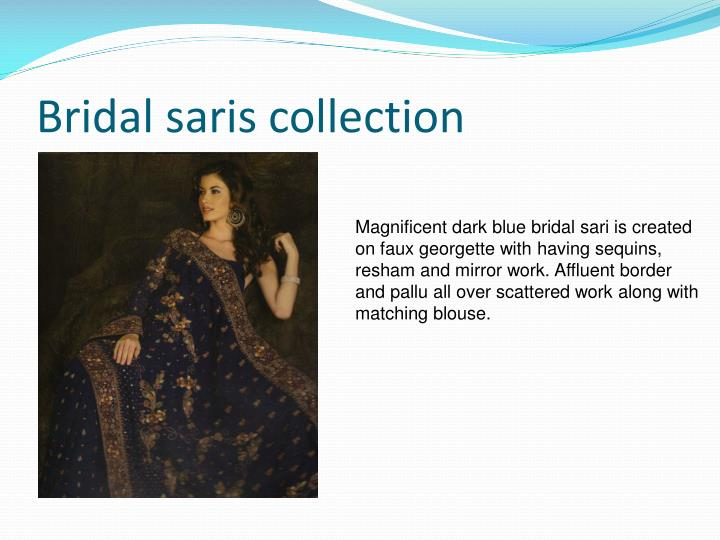 Bridal saris collection