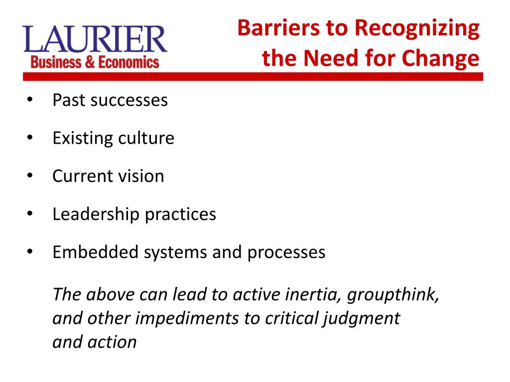 Barriers to Recognizing