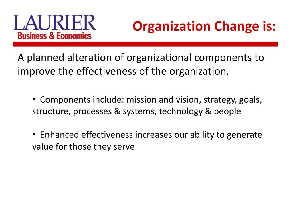 Organization Change is:
