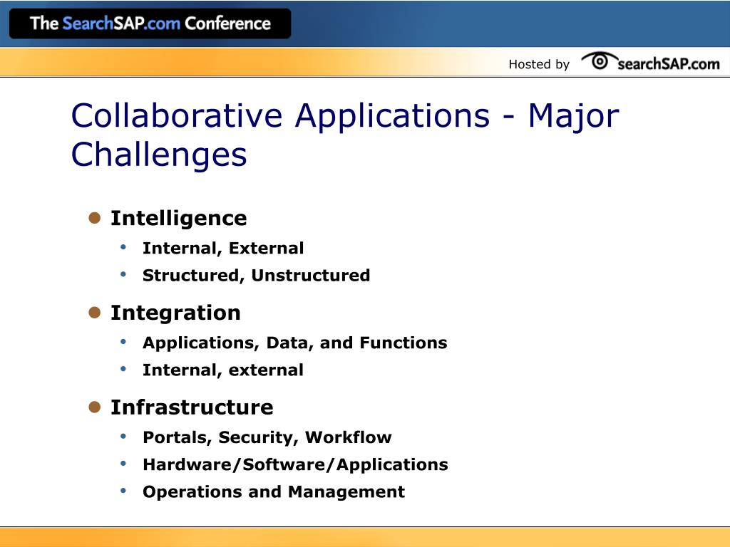 Collaborative Applications - Major Challenges