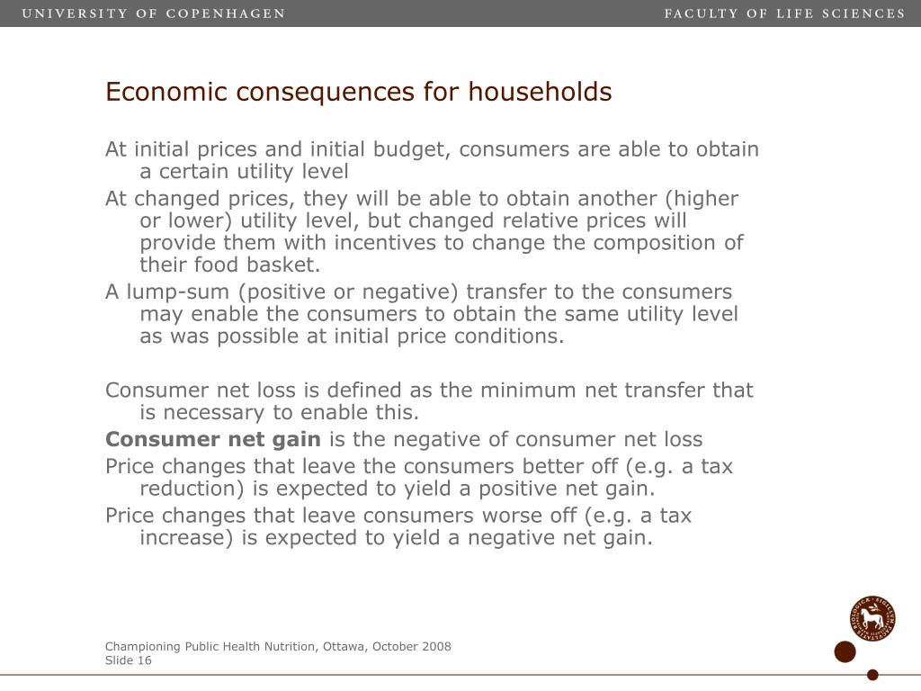 Economic consequences for households