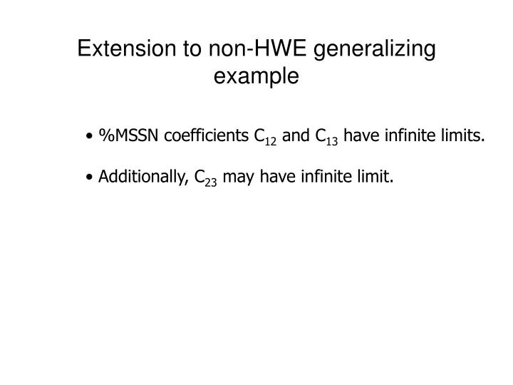 Extension to non-HWE generalizing example