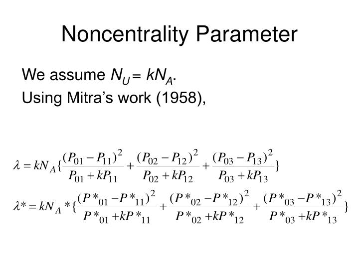 Noncentrality Parameter