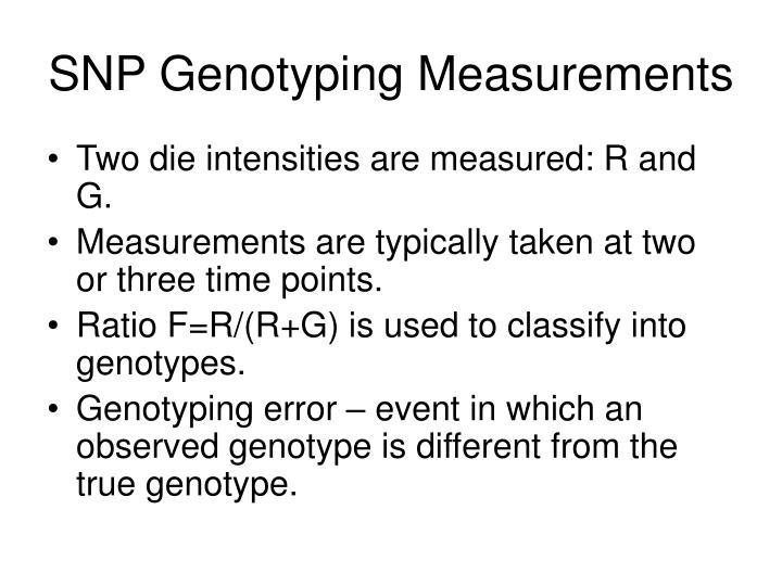 SNP Genotyping Measurements