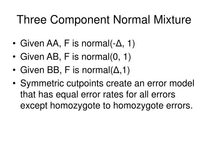 Three Component Normal Mixture