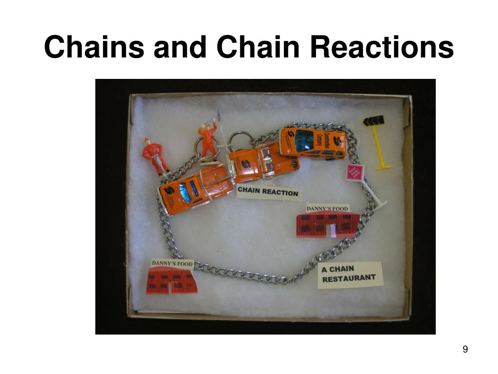 Chains and Chain Reactions