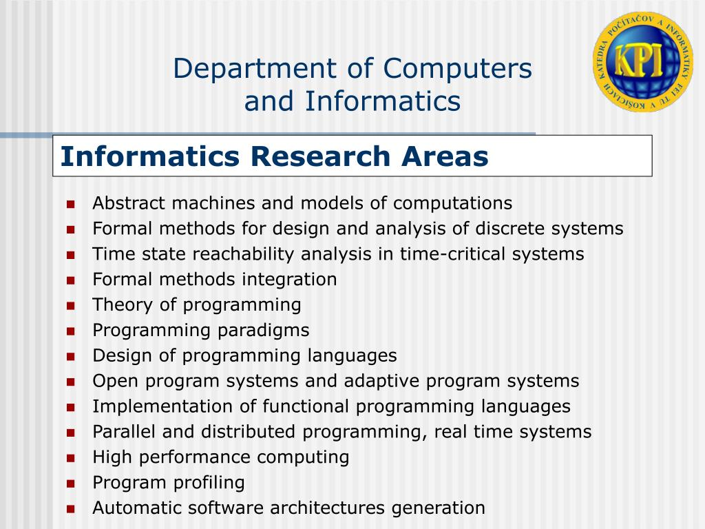 Informatics Research Areas