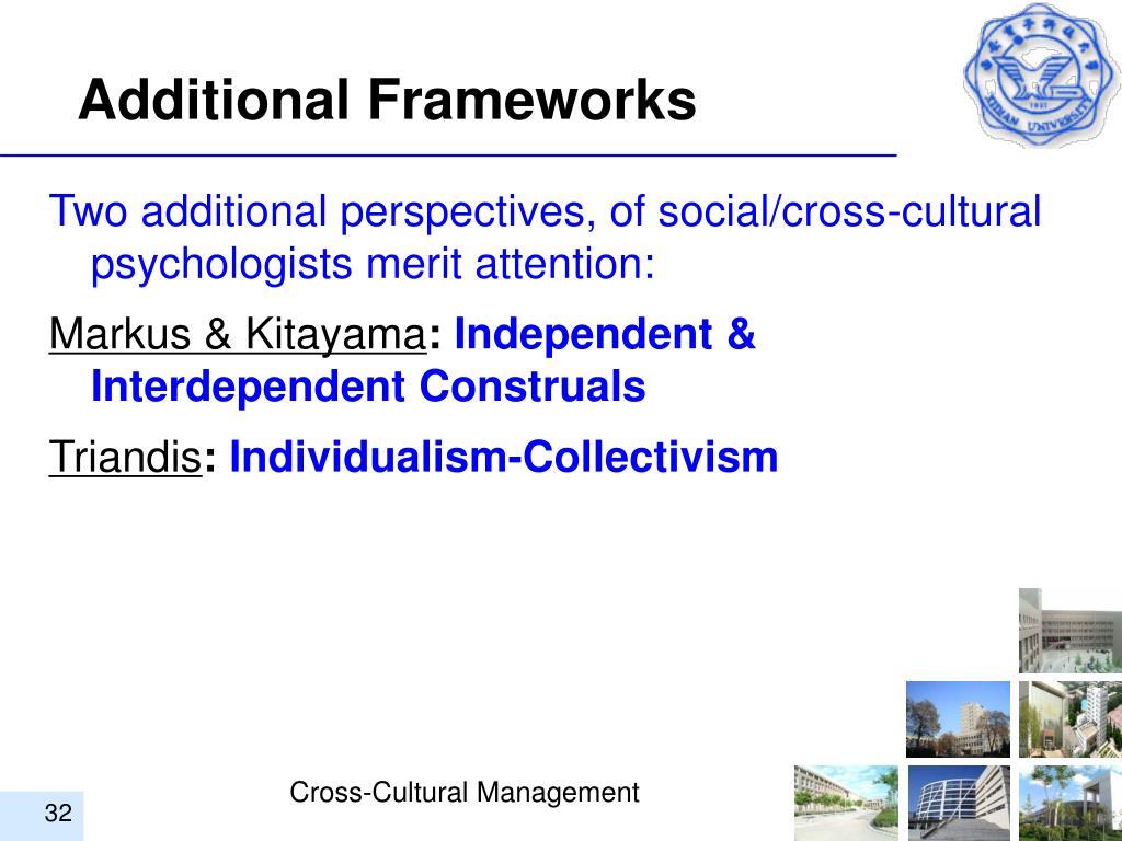 Additional Frameworks