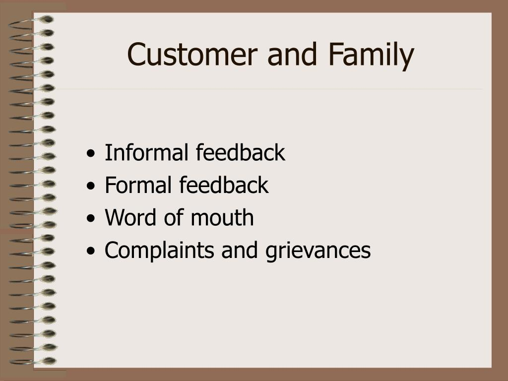 Customer and Family